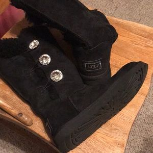 Ugg bailey button crystal diamond bling tall rare